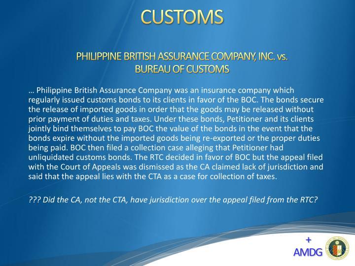 PHILIPPINE BRITISH ASSURANCE COMPANY, INC. vs.