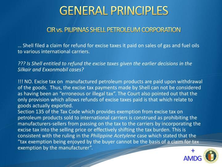 CIR vs. PILIPINAS SHELL PETROLEUM CORPORATION
