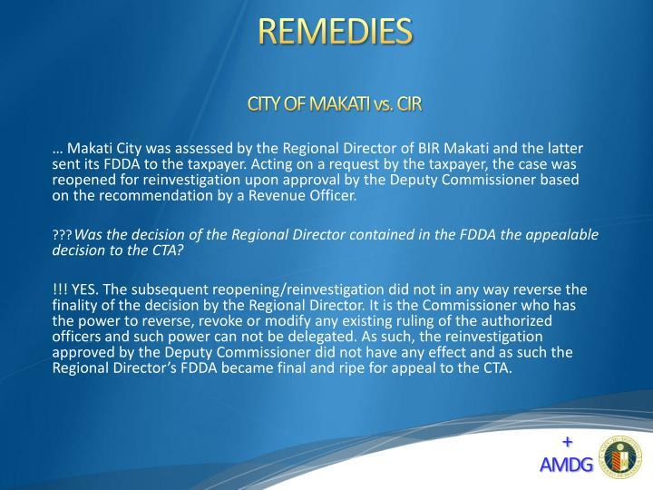 CITY OF MAKATI vs. CIR