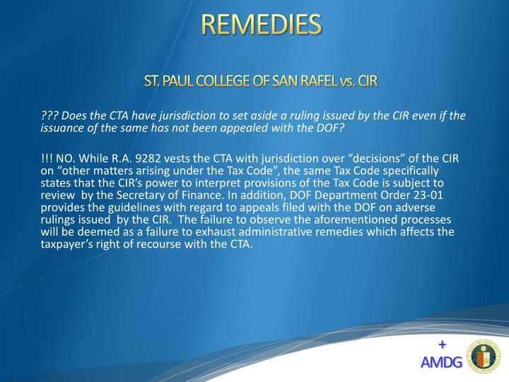 ST. PAUL COLLEGE OF SAN RAFEL vs. CIR