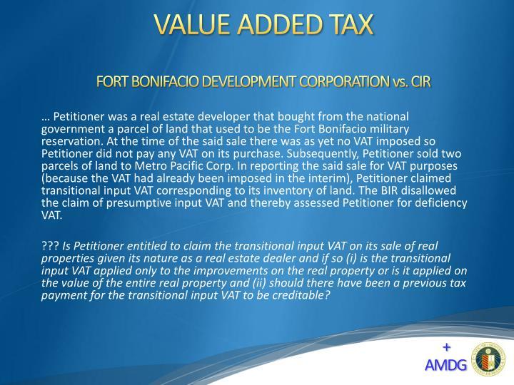 FORT BONIFACIO DEVELOPMENT CORPORATION vs. CIR