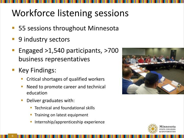 Workforce listening sessions
