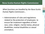 nova scotia human rights commission