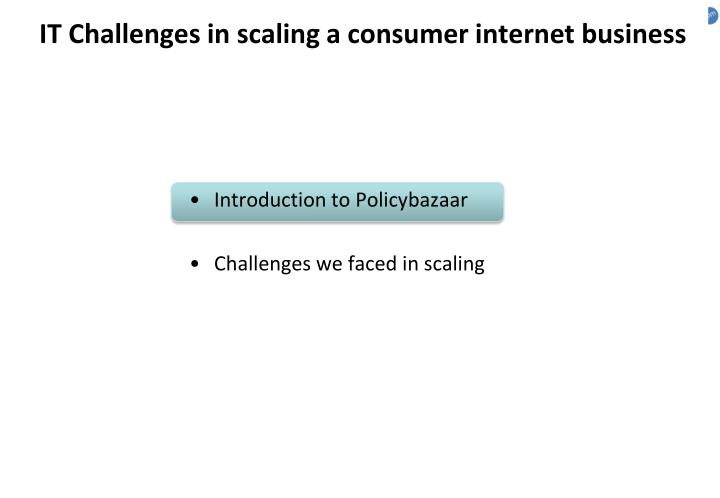 It challenges in scaling a consumer internet business