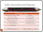 cabin amenities and features