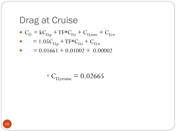 Drag at Cruise