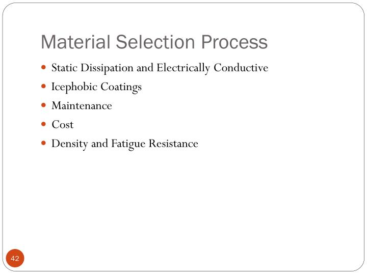 Material Selection Process