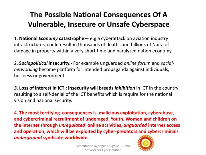 The Possible National Consequences Of A