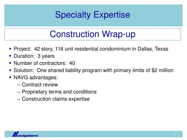 Specialty Expertise