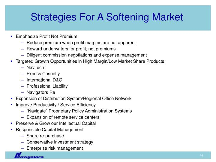 Strategies For A Softening Market