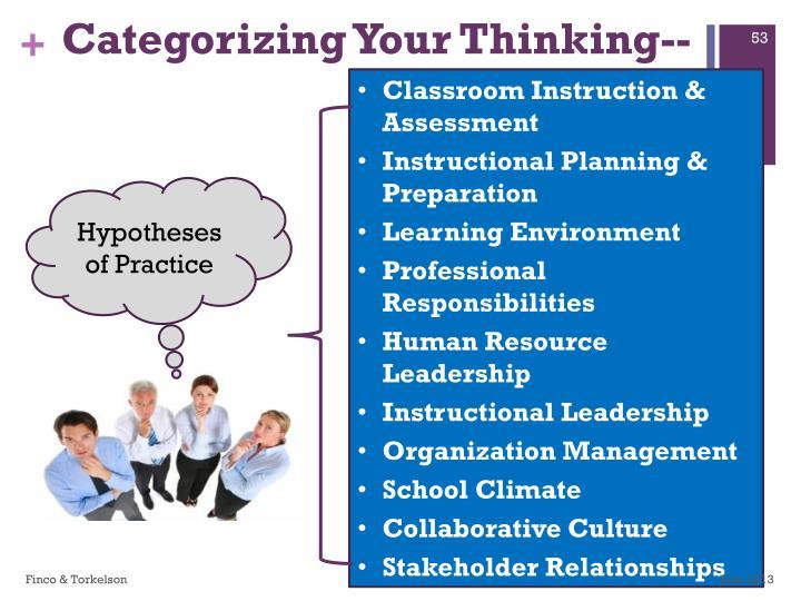Categorizing Your Thinking--