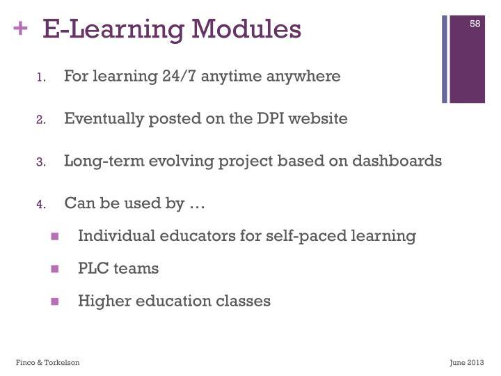 E-Learning Modules
