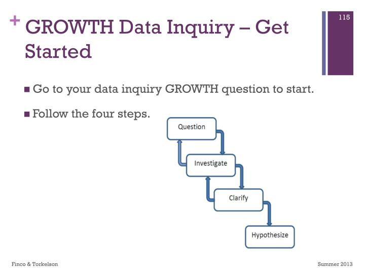 GROWTH Data Inquiry – Get Started