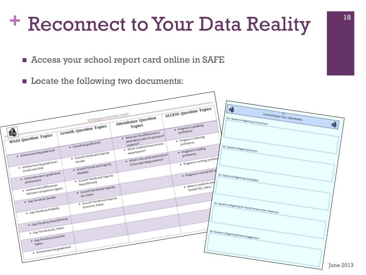 Reconnect to Your Data Reality