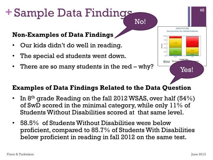 Sample Data Findings