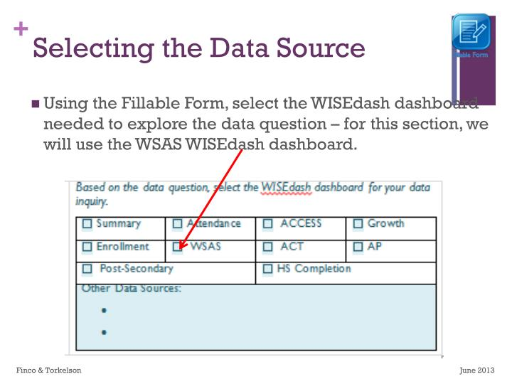 Selecting the Data Source