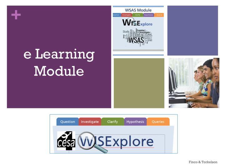 e Learning Module
