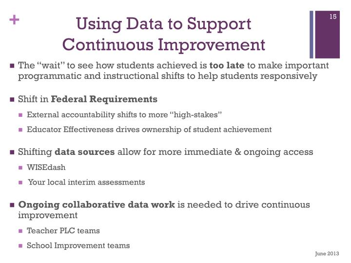 Using Data to Support