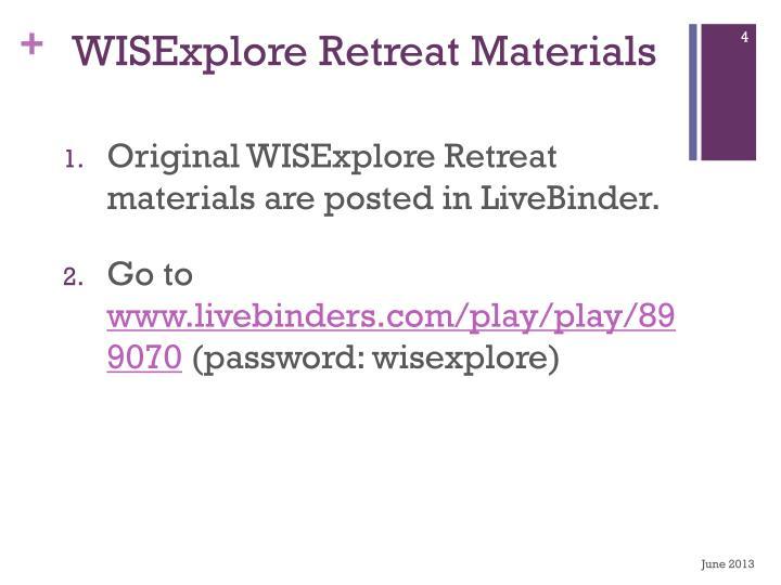 WISExplore
