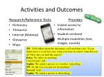 activities and outcomes1