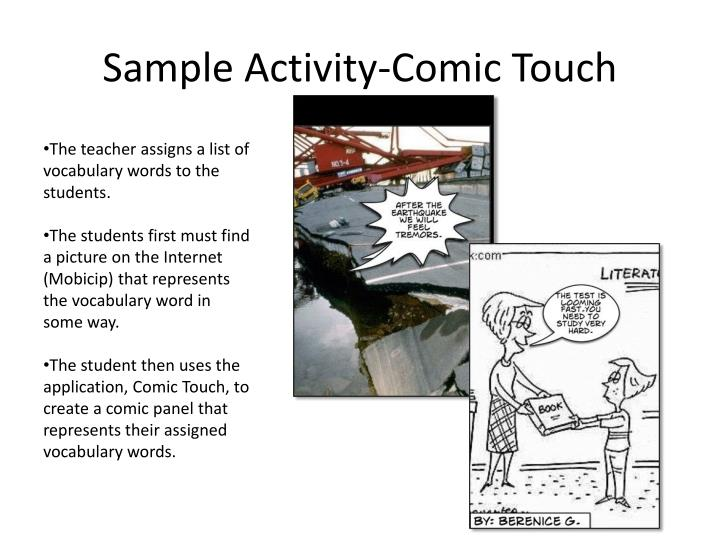 Sample Activity-Comic Touch