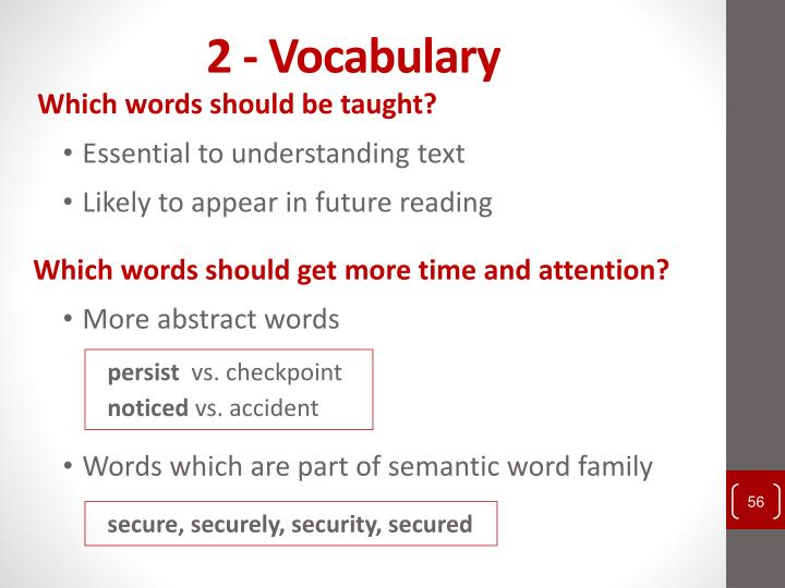2 - Vocabulary