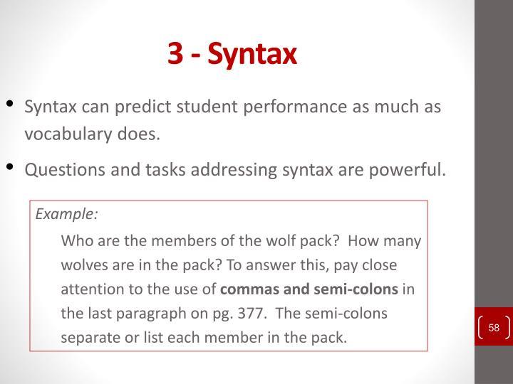 3 - Syntax