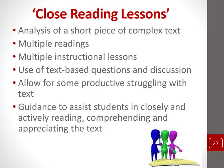 'Close Reading Lessons'