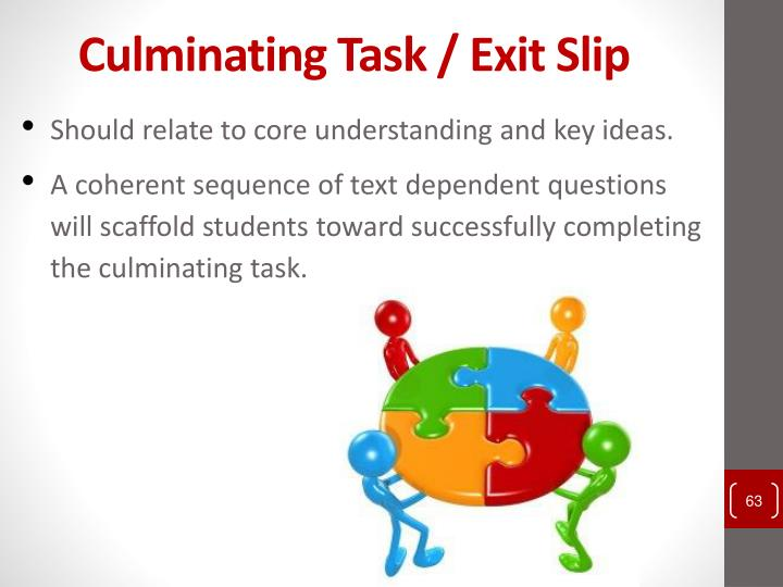 Culminating Task / Exit Slip