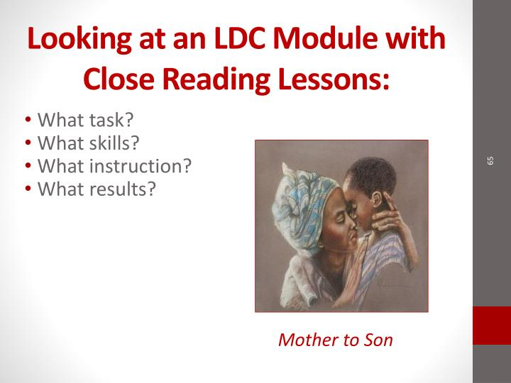 Looking at an LDC Module with Close Reading Lessons: