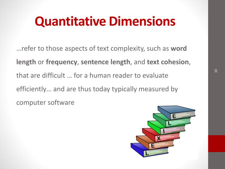 Quantitative Dimensions