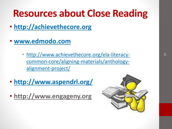 Resources about Close Reading