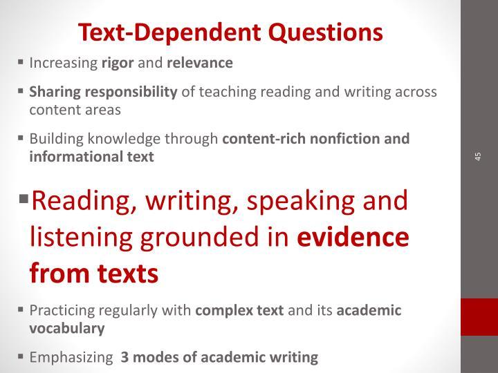 Text-Dependent