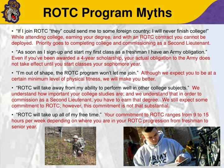 ROTC Program Myths