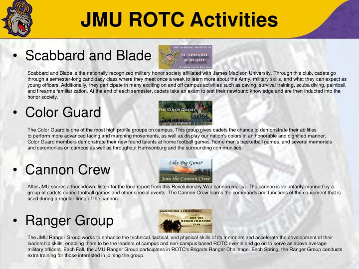 JMU ROTC Activities