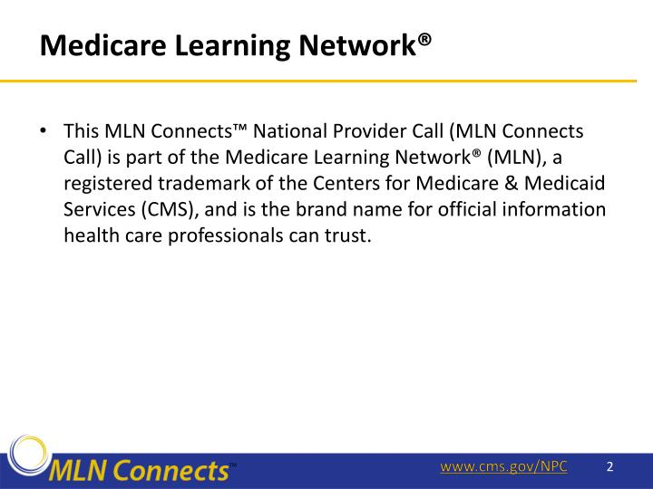 Medicare Learning Network