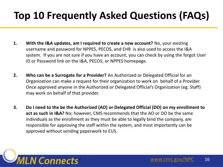 Top 10 Frequently Asked Questions (FAQs)