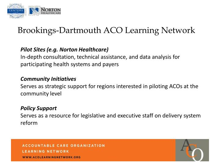 Brookings-Dartmouth ACO Learning Network