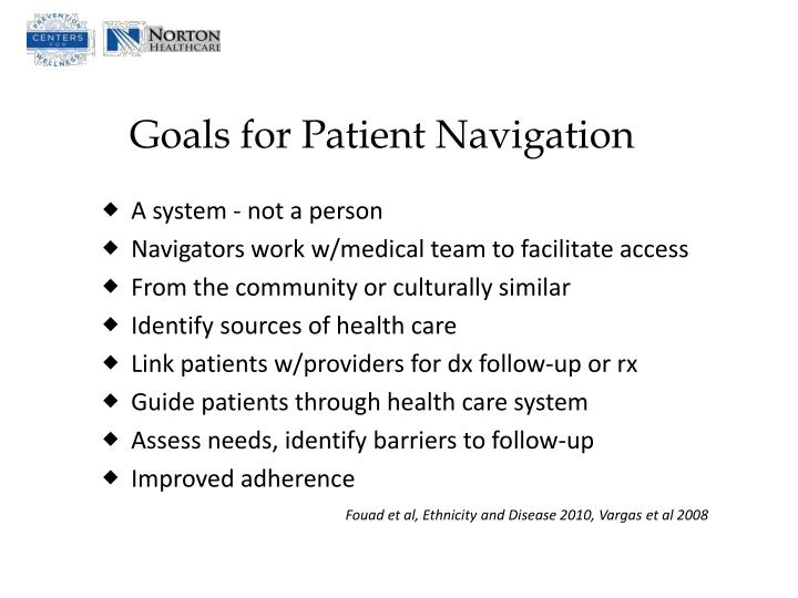 Goals for Patient Navigation