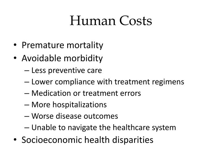 Human Costs