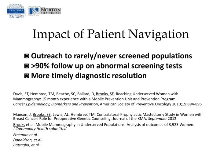 Impact of Patient Navigation