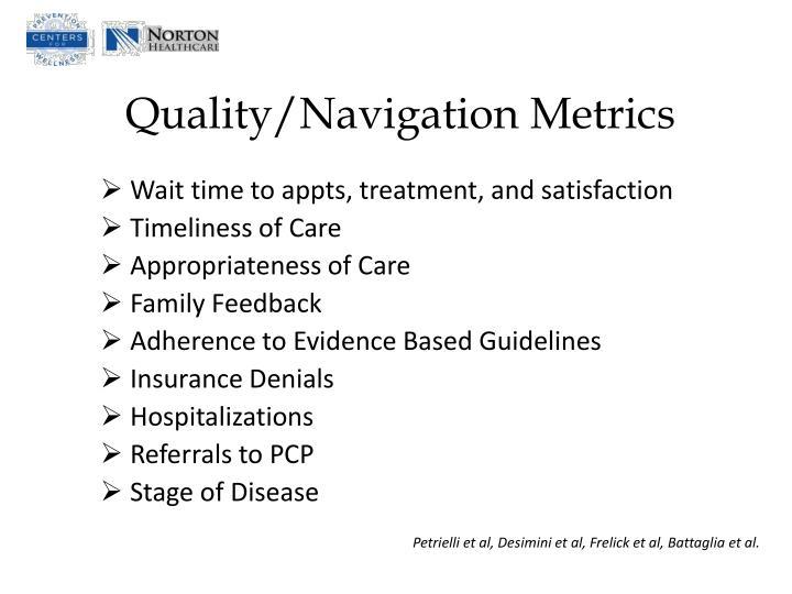 Quality/Navigation Metrics
