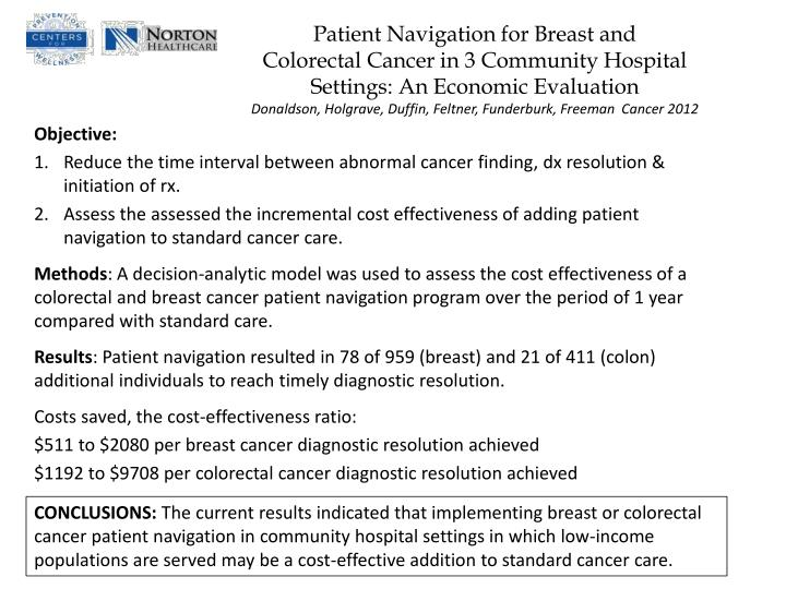 Patient Navigation for Breast and