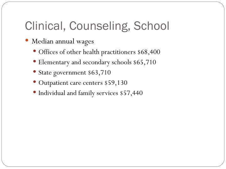Clinical, Counseling, School