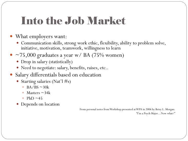 Into the Job Market