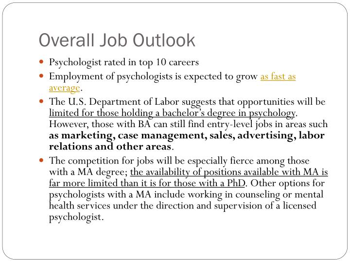 Overall Job Outlook