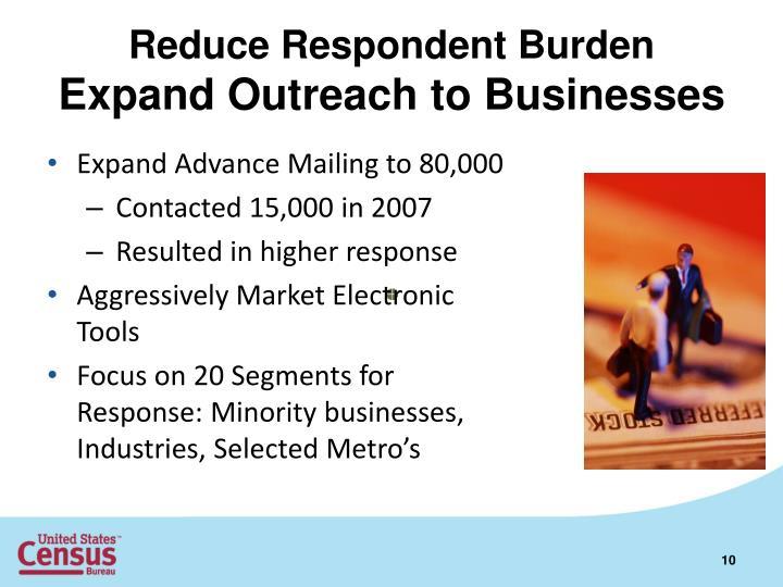 Reduce Respondent Burden