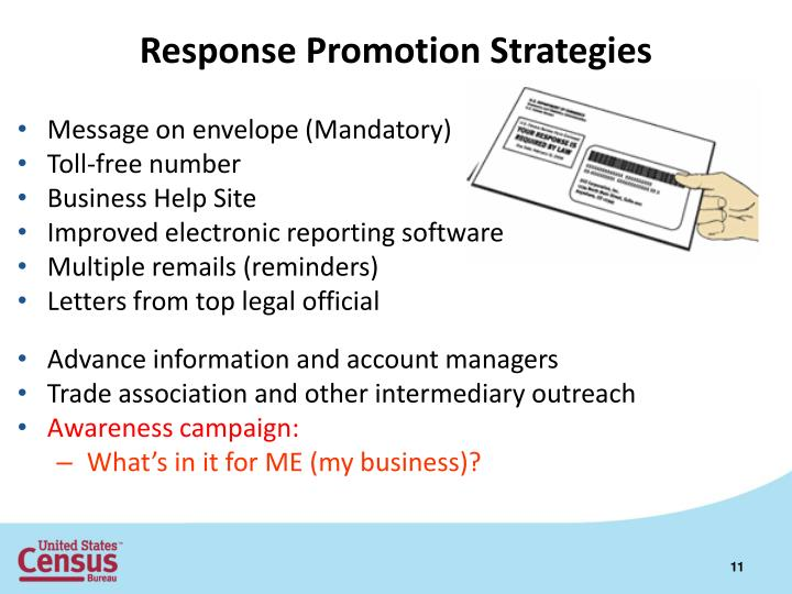 Response Promotion Strategies
