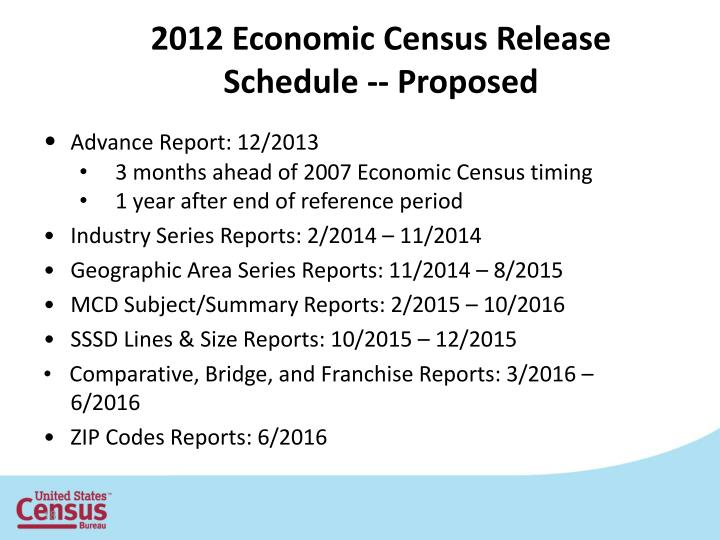 2012 Economic Census Release