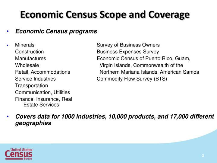 Economic Census Scope and Coverage